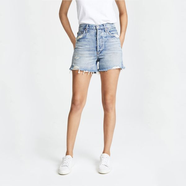 YONGM Womens Button Down Knee-Length Denim Shorts Jeans Dress