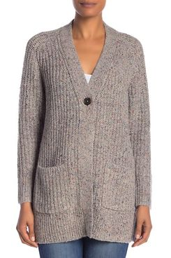 Madewell Colorfleck Ribbed Longline Cardigan