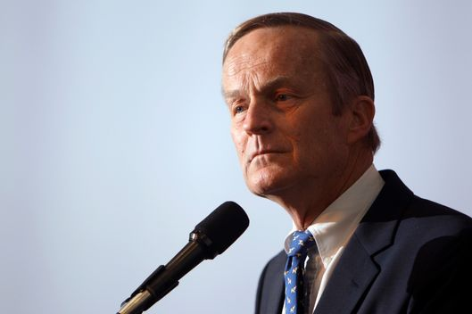This May 17, 2011 file photo shows U.S. Rep. Todd Akin, R-Mo., announcing his candidacy for U.S. Senate, in Creve Coeur, Mo.