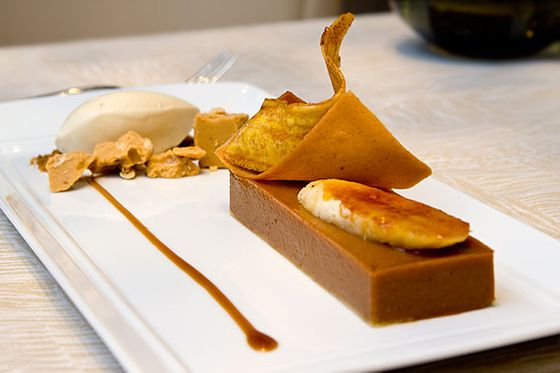 "<b>Bananas with Brown-Butter Sable, Tonka-Bean Ice Cream</b>    <a href=""http://www.trumpchicagohotel.com/Food_Wine/sixteen.asp"">Sixteen</a>    <i>401 North Wabash Avenue; 312-588-8030</i>  Ice cream is pervasive on pastry chef Sarah Kosikowski's ever-evolving dessert menu at Sixteen. Which is a philosophy we can get behind. Delicate and pitch-perfectly sweet tonka-bean ice cream graces this plate alongside caramelized banana, brown-butter flexible sable, a savory plantain chip, vanilla tuile, coffee caramel, roasted white-chocolate and pine-nut turron, and brown-sugar streusel."