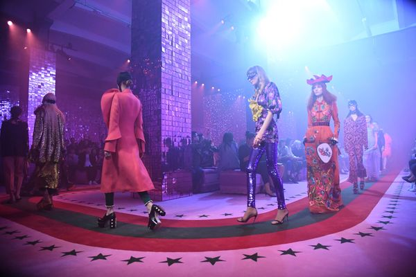 Gucci's Show Today Was a Rhapsody in Pink