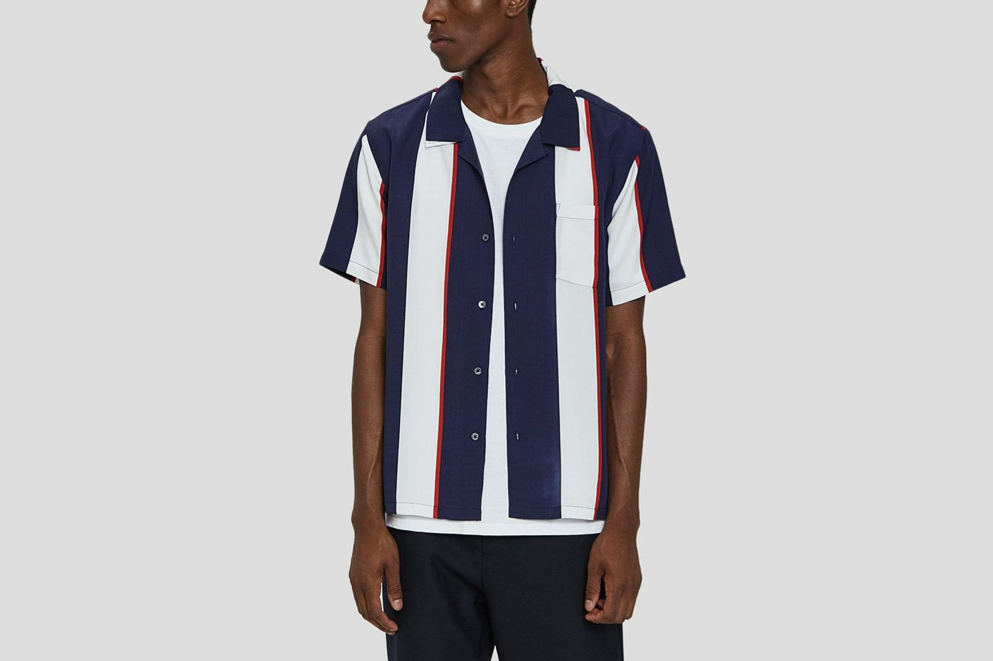 Stüssy Big Stripe Shirt in Navy