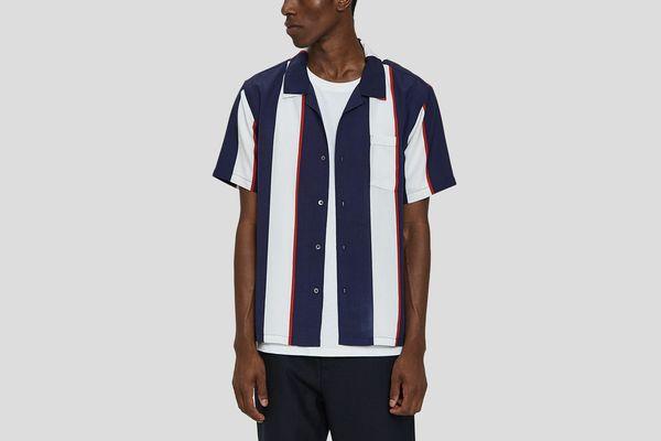 Stüssy Big Stripe Shirt in Navy