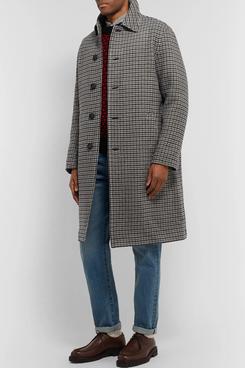 Mr P. Checked Wool Overcoat