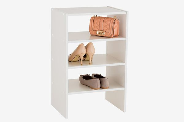 White 4-Shelf Shoe Stacker
