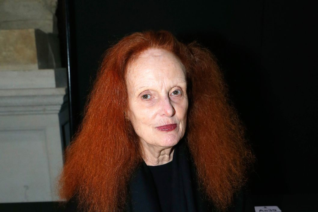 PARIS, FRANCE - FEBRUARY 27:  Grace Coddington attends the Lanvin  show as part of the Paris Fashion Week Womenswear Fall/Winter 2014-2015 on February 27, 2014 in Paris, France.  (Photo by Rindoff Petroff/Dufour/Getty Images)