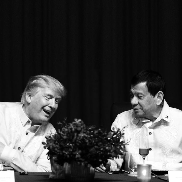 Donald Trump and Rodrigo Duterte meet as the ASEAN summit in Manila.