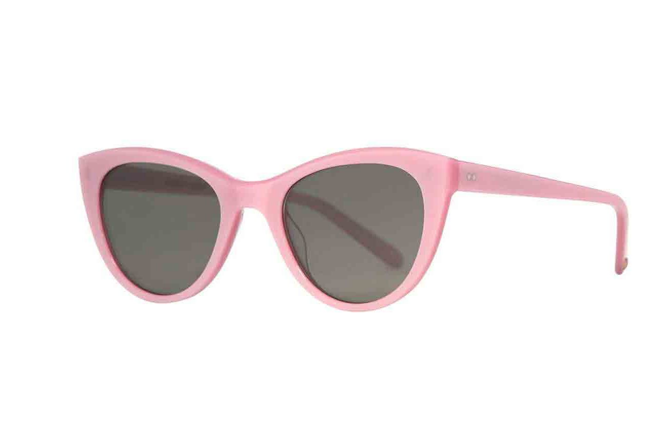 Clare V. x Garrett Leight Blush Cat Eye Sunglasses
