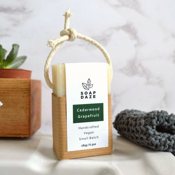 Cedarwood & Grapefruit Soap on a Rope