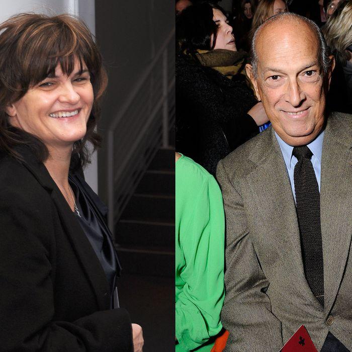 Cathy Horyn and Oscar de la Renta.