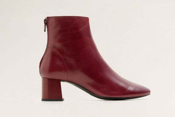 Mango High Heel Leather Boots