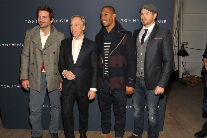 Bradley Cooper, Tommy Hilfiger, Victor Cruz and Kellan Lutz.