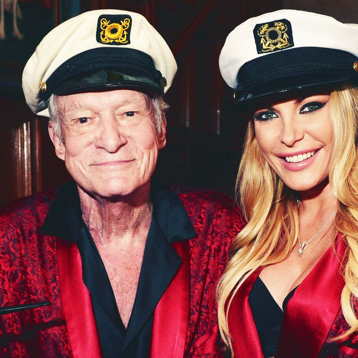 Hugh Hefner and Crystal Hefner.