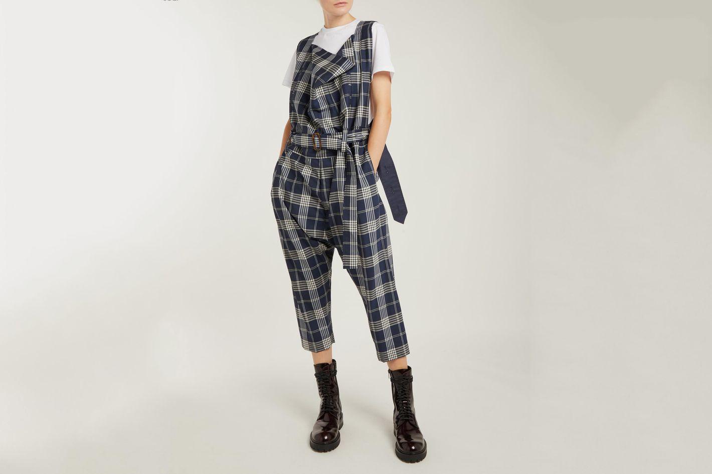 Vivienne Westwood Tartan Wool Dungarees