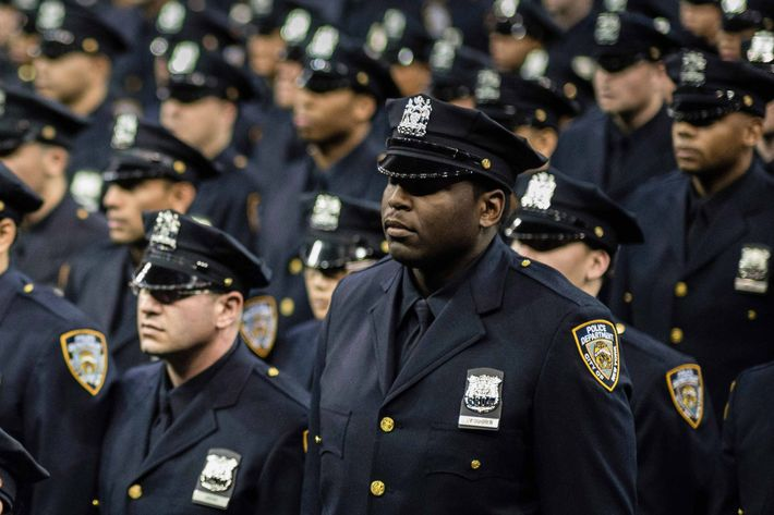 The New York Police Department graduation ceremony for 1,171 new recruits, held at Madison Square Garden. This graduating class of police recruits is one of the most diverse in the city's history, coming from 45 countries and speaking 48 foreign languages.