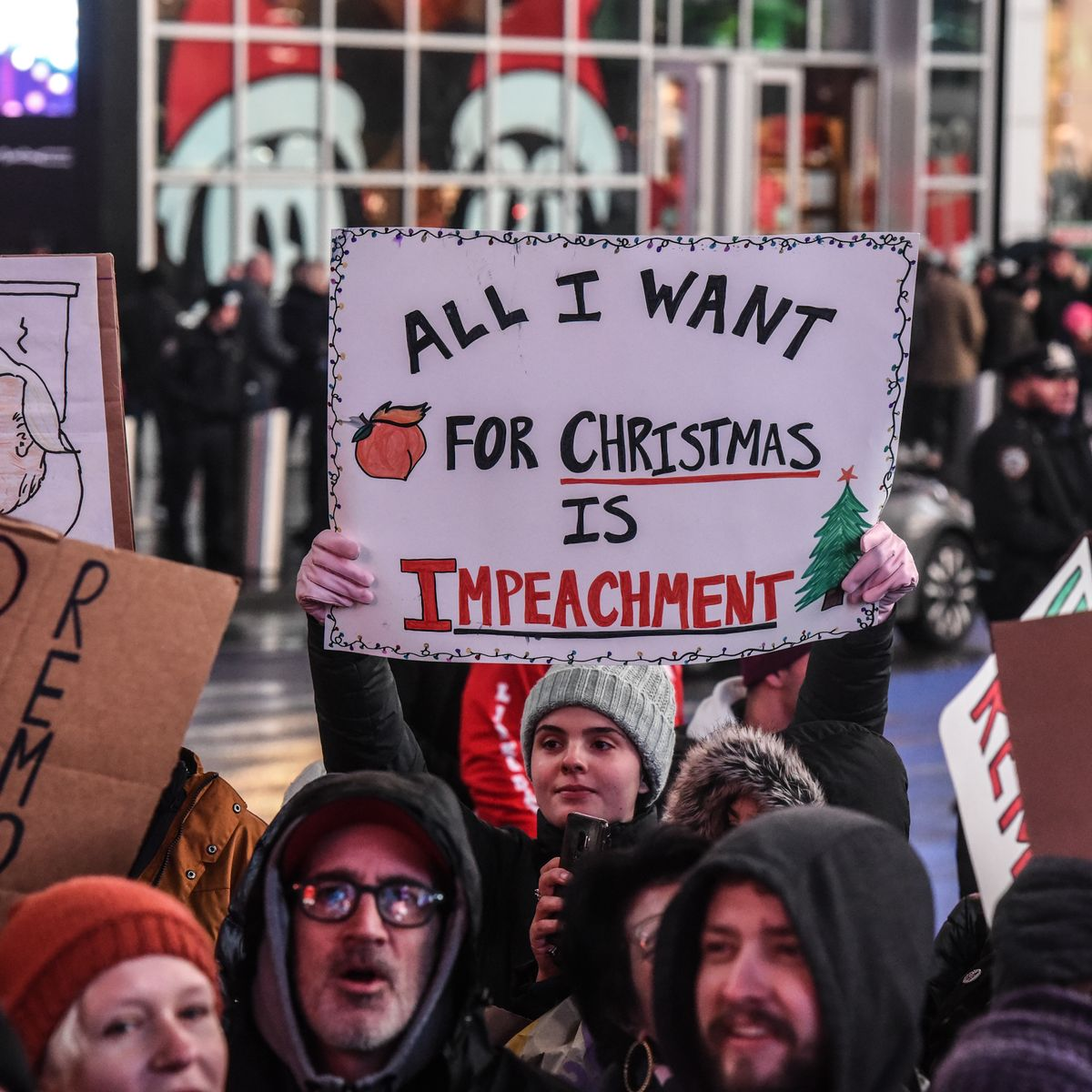 Trump Impeachment Protests & Rallies on December 17: Photos