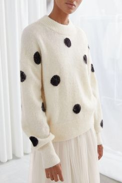 & Other Stories Wool-Blend Polka-Dot Sweater