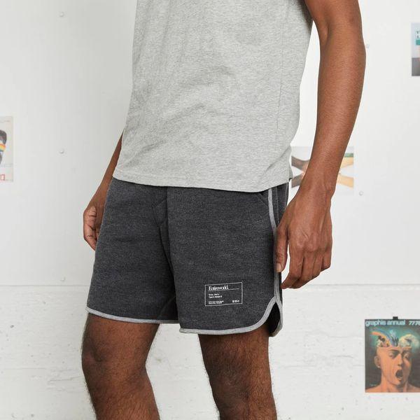 Entireworld Men's Loop Back Sweatshorts, Charcoal Grey