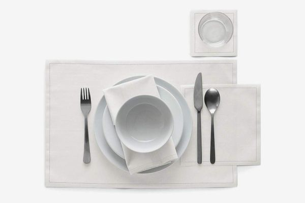 MyDrap Cotton Cocktail Napkins, White