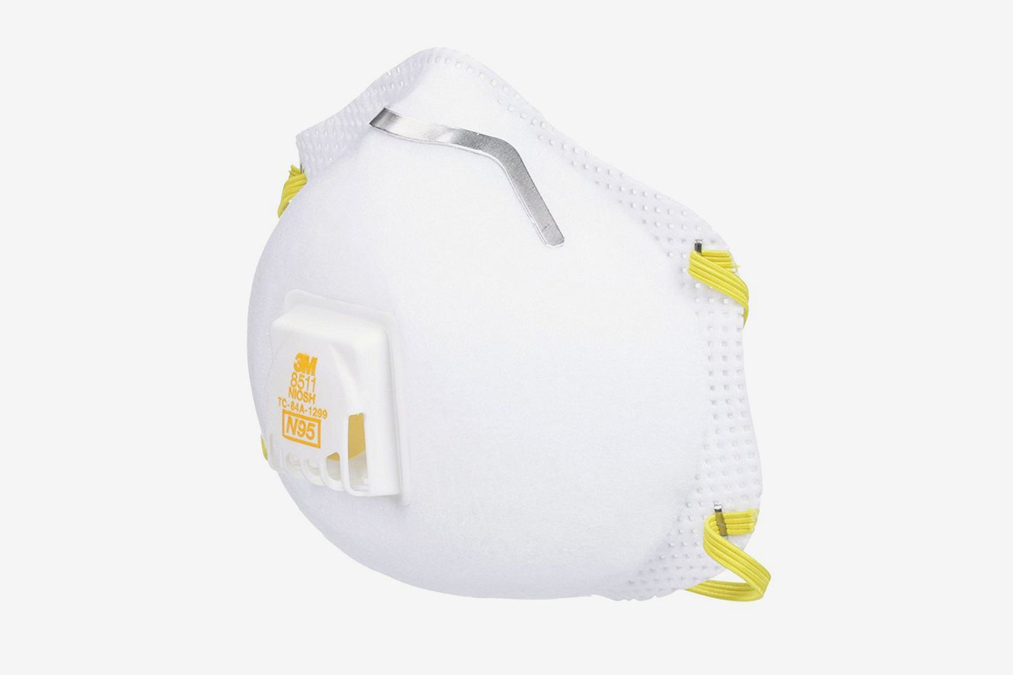 3M 8511PB1-A-PS Particulate N95 Respirator With Valve, 10-Pack