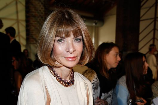 MILAN, ITALY - SEPTEMBER 22:  Anna Wintour attends the Missoni show as part of Milan Fashion Week Womenswear Spring/Summer 2014 at  on September 22, 2013 in Milan, Italy.  (Photo by Andreas Rentz/Getty Images)
