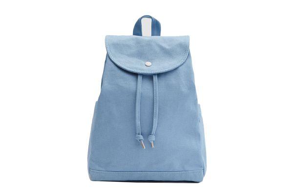 Baggu Drawstring Backpack in Washed Blue
