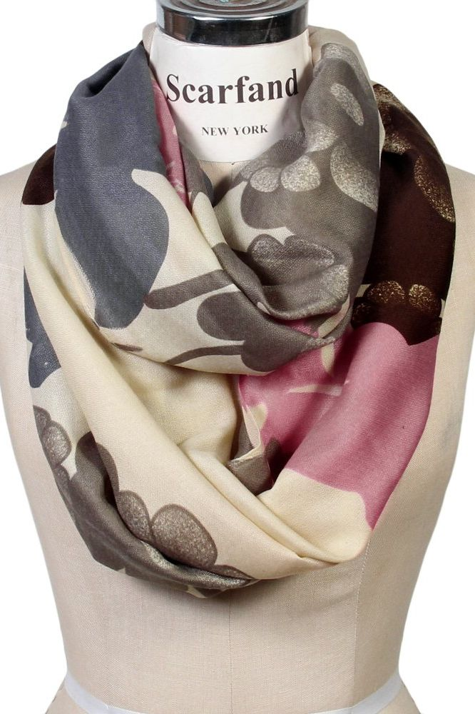 Scarfand's Graphic Print Infinity Scarf