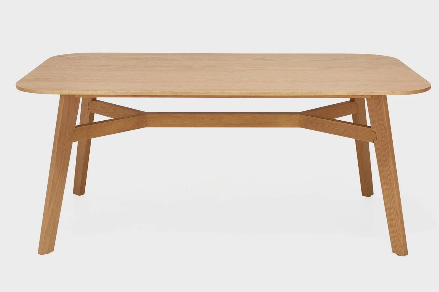 cubist oak dining table