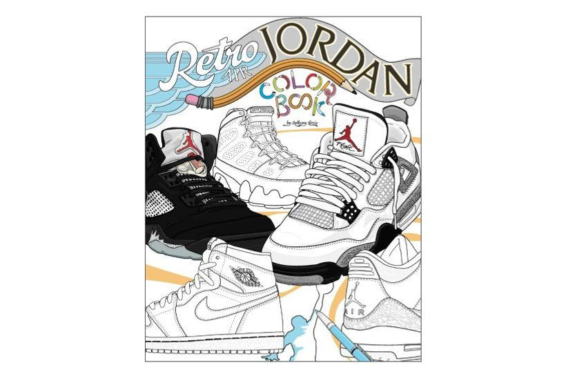 Retro Air Jordan: Shoes: A Detailed Coloring Book for Adults and Kids
