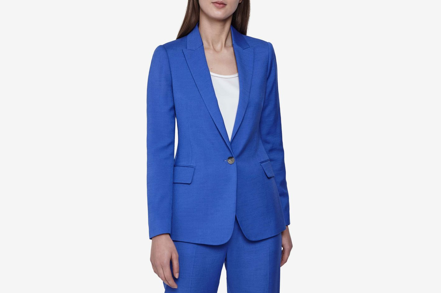 Reiss Haya Slub Texture Suit Jacket