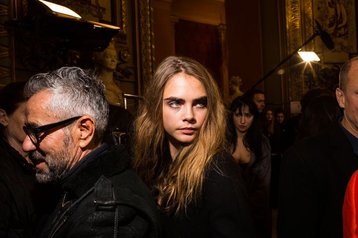 Cara Delevingne at Stella McCartney.