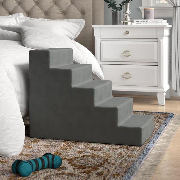Grommit High Density Foam Five-Step Pet Stair