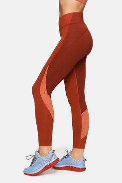 Outdoor Voices TechSweat 7/8 Zoom Leggings (Brick/Currant/Adobe)
