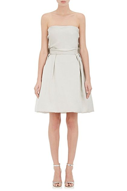 Lanvin Washed Satin Strapless Dress