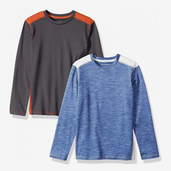 Amazon Essentials Boys' Active Performance Long-Sleeve T-Shirts