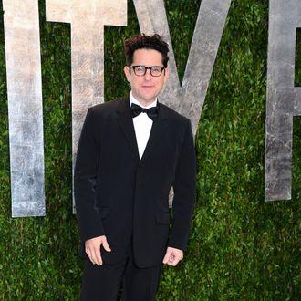 Producer J.J. Abrams arrives at the 2012 Vanity Fair Oscar Party