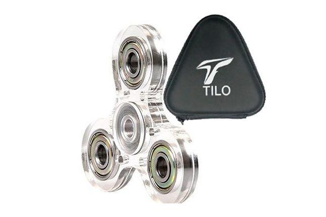 Acrylic Tri-Spinner Fidget Toy