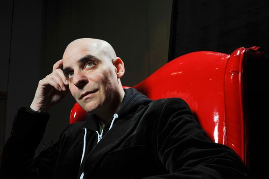 David Rakoff Portrait of author, essayist, and actor David Rakoff at Wordstock Literary Festival in Portland, Oregon, USA on October 09, 2010 in Portland, Oregon.