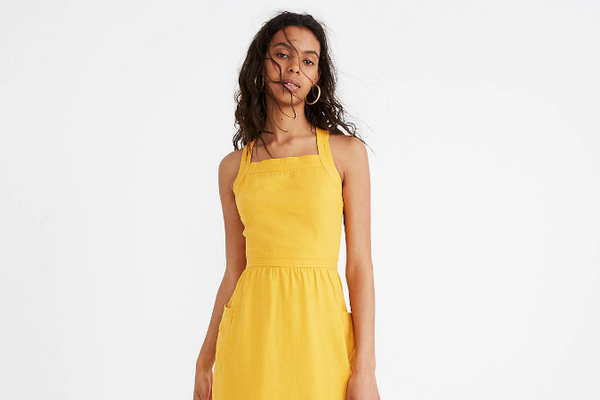 Madewell Garment-Dyed Apron Maxi Dress