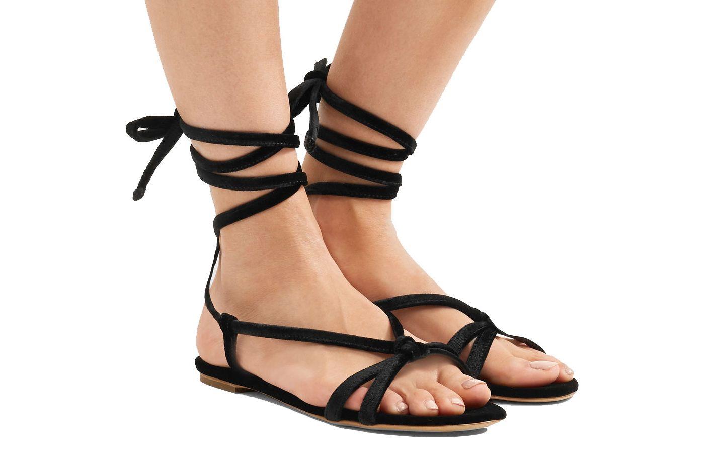 Gabriela Hearst Velvet Sandal