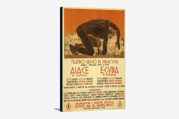 Teatro Greco di Siracusa Vintage Poster, by Duilo Cambellotti