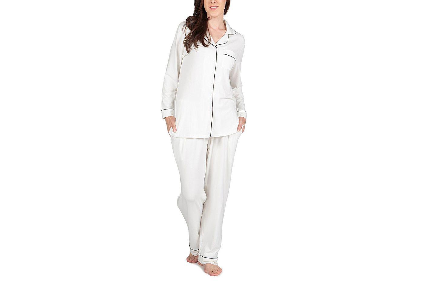 Women's Pajama Set — Button-Up Pajama Sleepwear Set
