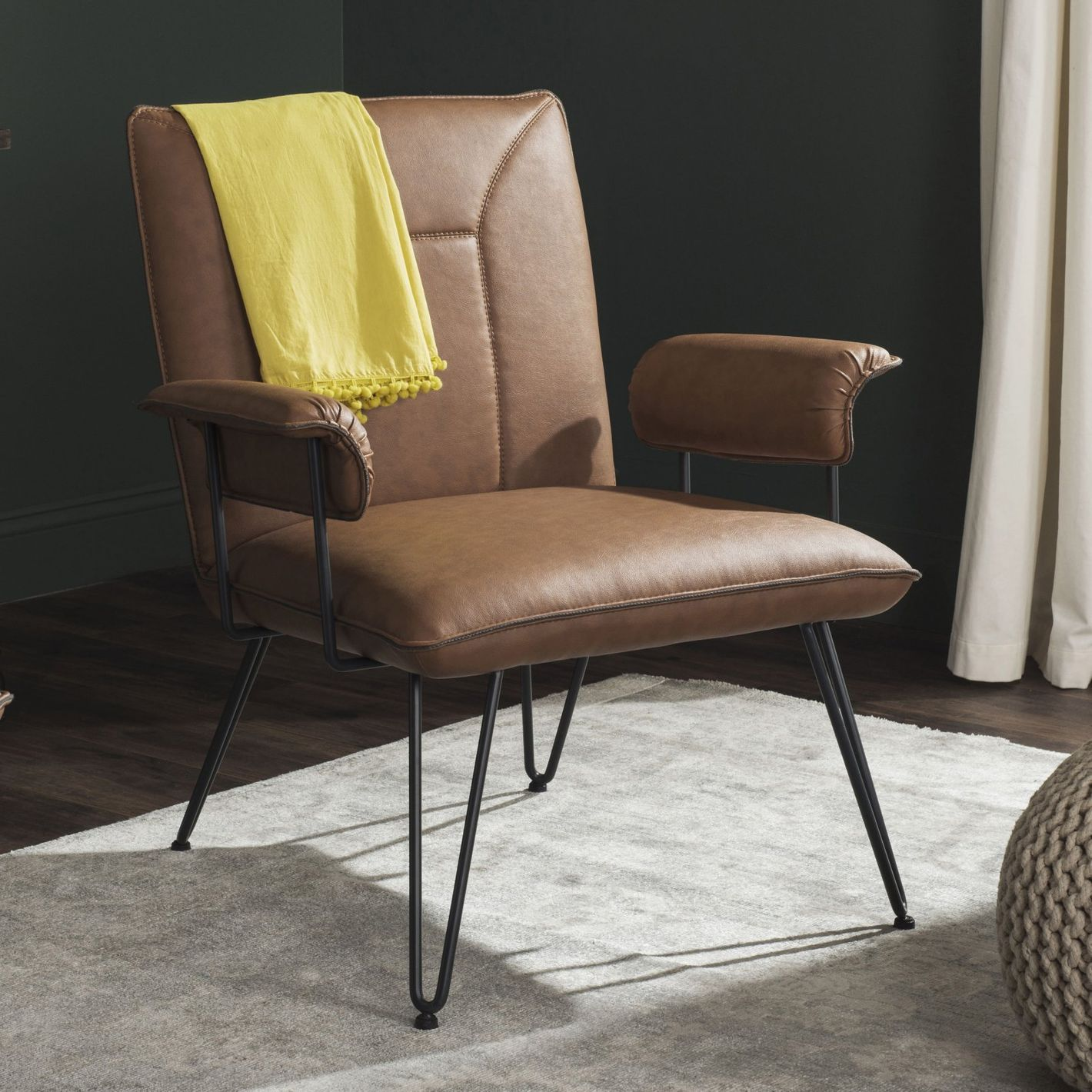 Safavieh Johannes Bicast Leather Armchair