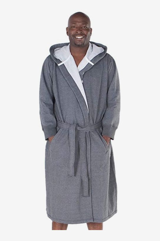 Alexander Del Rossa Men s Sweatshirt Style Hooded Bathrobe fc39a840f