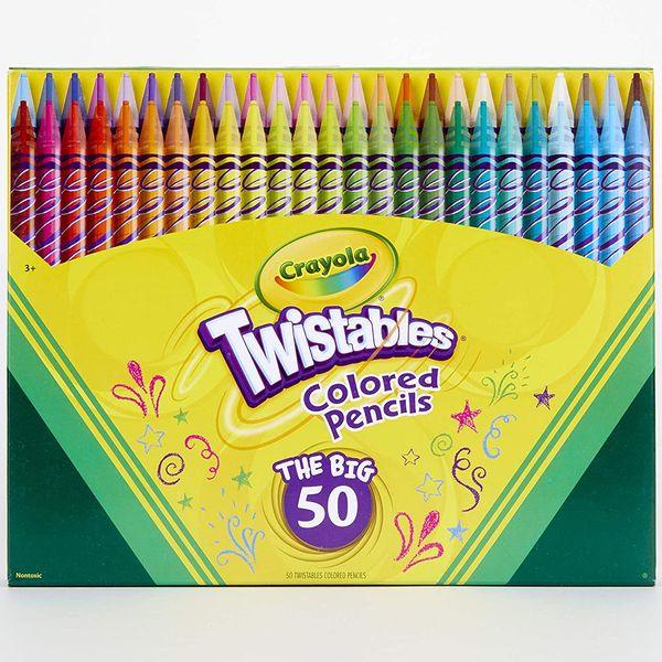 Crayola Twistables Colored-Pencil Set (50-Count)