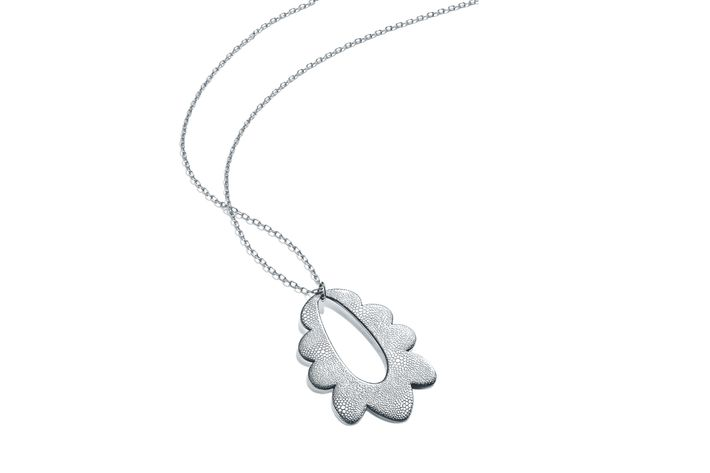 This tiffany pendant is a collab with the whitney biennial daisy sterling silver pendant by carrie moyer handcrafted by tiffany artisans photo ttiffany co studio aloadofball Gallery