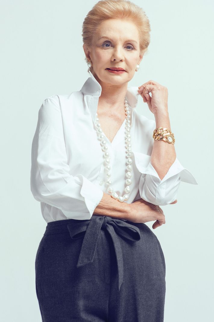 Designer Carolina Herrera.