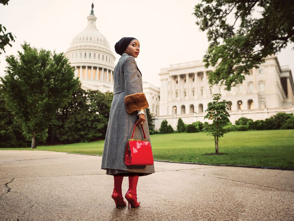 A 43 Day Fashion Road Trip Rodeo Skirt Fellie In Maroon On Malika Fendi Coat And Boots At Fendicom Kate Spade New York Sweater Katespadecom Mansur Gavriel Bag 134 Wooster St Photo Holly