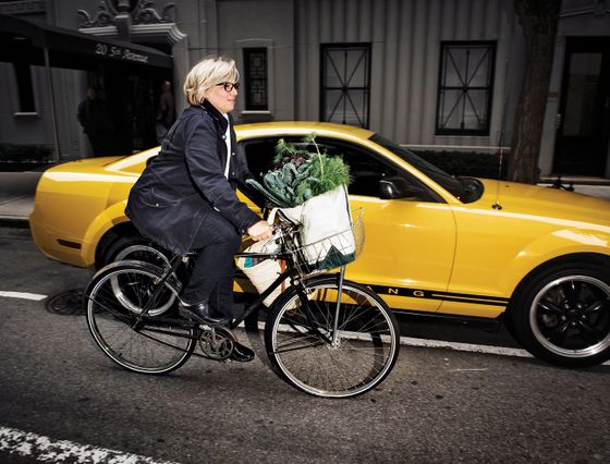 """""""I can carry like ten bags on my bicycle,"""" Williams says. """"It's not impressive. It's dangerous and stupid."""""""