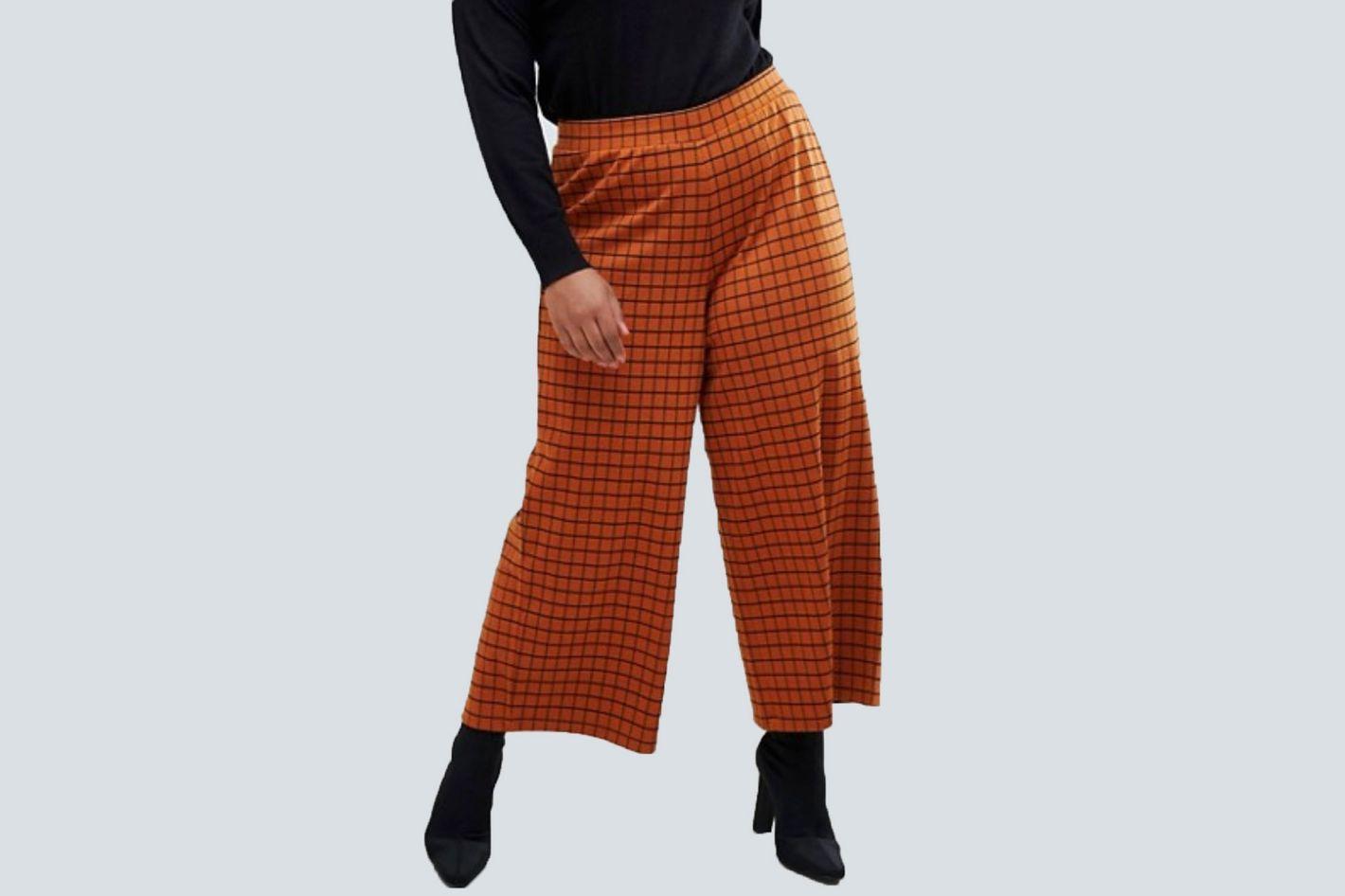 ASOS DESIGN Curve Wide Leg Culotte Pants